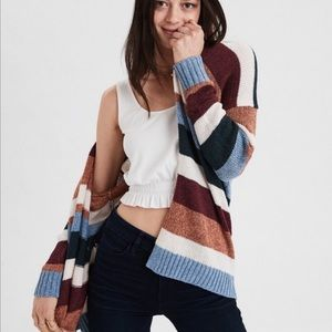 American Eagle Outfitters Striped Cardigan M